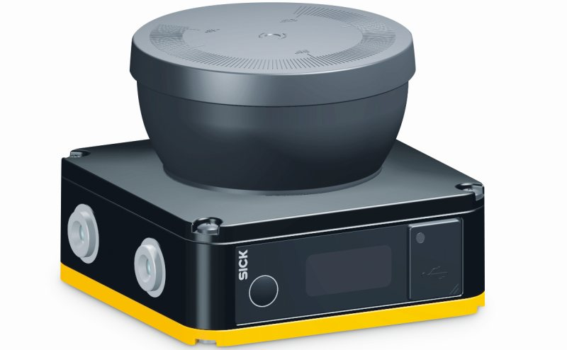 Der kompakte Sicherheits-Laserscanner »Nanoxcan 3« mit nur 8 cm. Bild: Sick