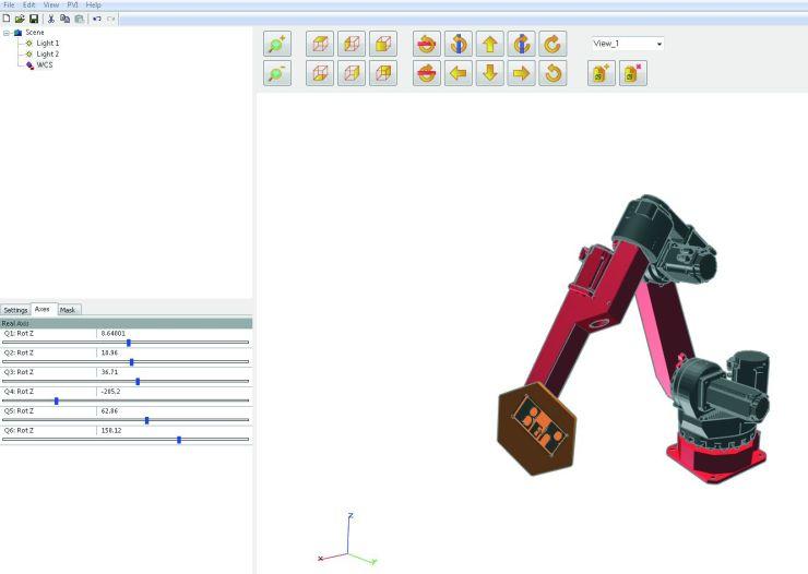 Mit dem Scene-Viewer kann die Roboteranwendung vorab getestet und die erforderliche Zeit für die Inbetriebnahme an der Maschine verkürzt werden. Bild: B&R