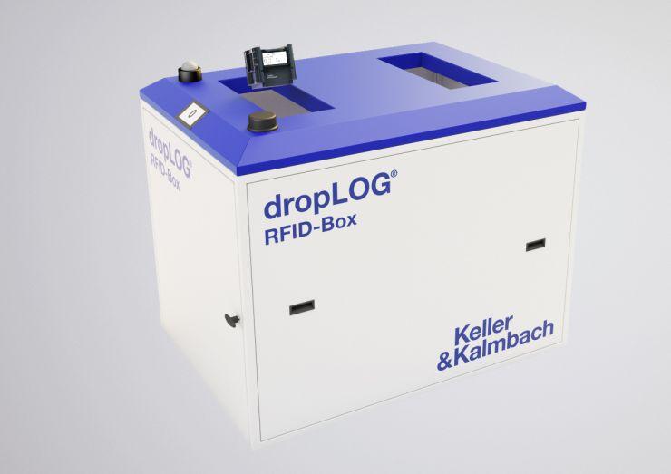 Auch ein Beispiel für Digitalisierung: Droplog von Keller & Kalmbach löst bei Einwurf eines leeren Behälters in die RFID-Box eine Bestellung aus. Bild: Keller & Kalmbach