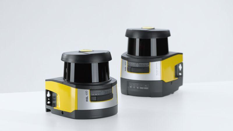Der Sicherheits-Laserscanner »RSL 400« von Leuze ist in mehreren Varianten erhältlich. Bild: Leuze electronic