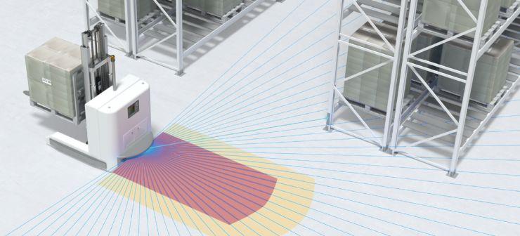 Sicherheitsfunktion und hochwertige Messwertausgabe in einem Gerät. Bild: Leuze electronic