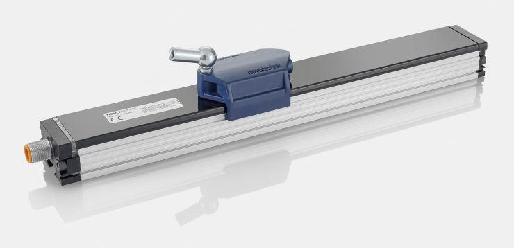 Der induktive Wegaufnehmer TF1 arbeitet berührungslos und bietet sehr gute dynamische Eigenschaften sowie hohe mechanische und magnetische Robustheit. Bild: Novotechnik