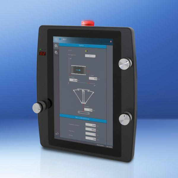 Das mobile Panel »HGW 1033« bietet optional auch Safety-Funktionen und Drehgeber. Bild: Sigmatek