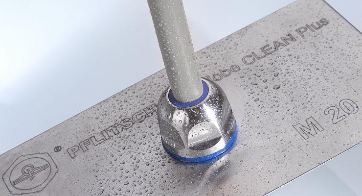Die EMV-Kabelverschraubung ist auch im Hygienedesign erhältlich. Bild: Pflitsch