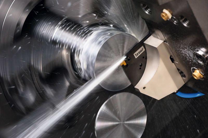 Aufgrund seiner robusten Konstruktion sorgt der neue Werkzeughalter für vibrationsfreies Abstechen. Bild: Iscar