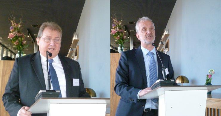 Stefan Zecha (li.), Vorsitzender VDMA Präzisionswerkzeuge, und Gerhard Knienieder (re.), Vorsitzender der Fachabteilung Gewindewerkzeuge. Bilder: Kuhn