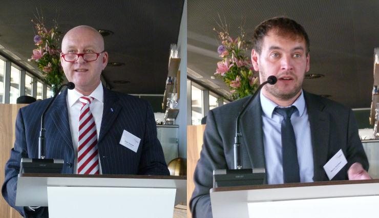 Peter Tausend (li.), Vorsitzender der Fachabteilung Spannzeuge, und Marco Schülken (re.), Vorsitzender der Fachabteilung Werkzeugbau. Bilder: Kuhn