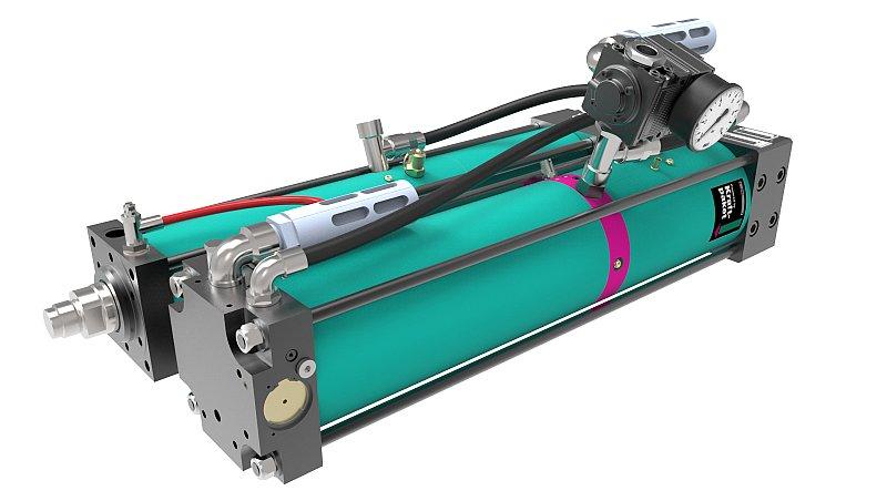 Die neuen pneumohydraulischen Antriebe arbeiten effizienter. Bild: Tox