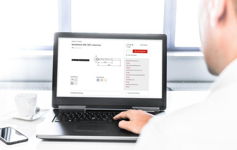 Der neue Online-Shop bietet eine vereinfachtere Produktsuche und viele Informationen (Bild: Ceratizit).