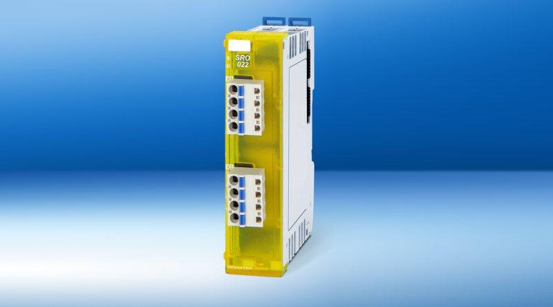 Das neue Safety-Modul mit zwei sicheren, zweikanaligen Ausgängen entspricht den Sicherheitsanforderungen nach SIL 3, PL e (Bild: Sigmatek).