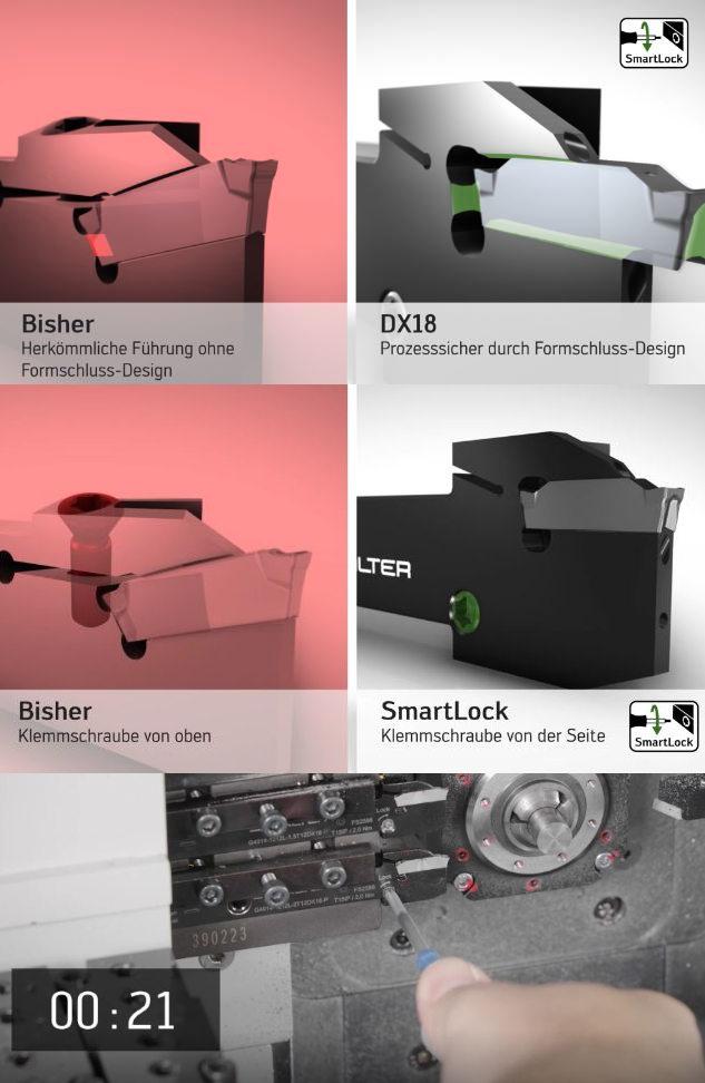 SmartLock spart beim Plattenwechsel bis zu 70 Prozent an Zeit (Bilder: Walter AG)