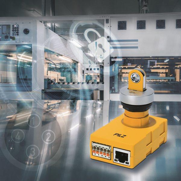 Das Betriebsartenwahl- und Zugangsberechtigungssystem vereint Safety und Industrial Security in einem System (Bild: Pilz).