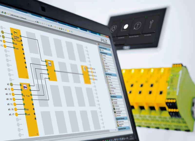 Kombiniert mit der konfigurierbaren Kleinsteuerung kann mit der Ausleseeinheit die Betriebsartenwahl und Zugangsberechtigung besonders flexibel realisiert werden - Bild: Pilz.