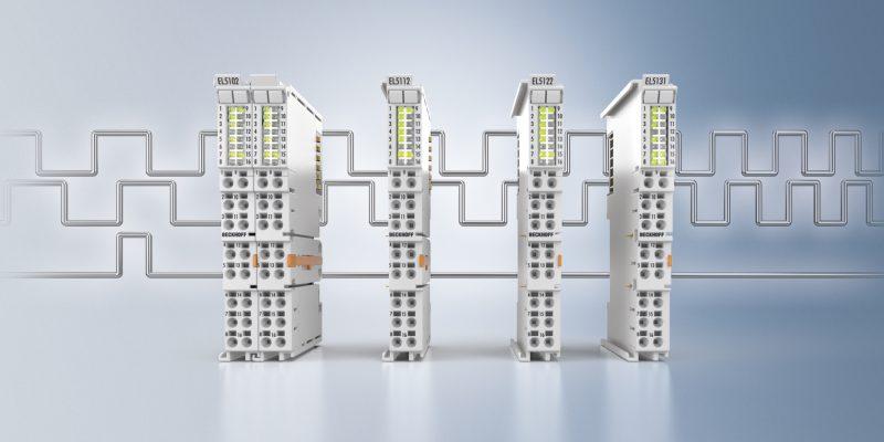 Die vier neuen Ethercat-Klemmen ermöglichen die effiziente Nutzung von Inkrementalencodern (Bild: Beckhoff).