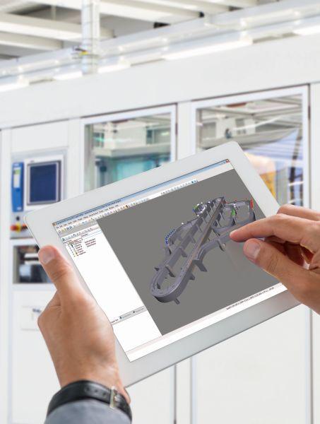 Im Visualisierungstool »Scene Viewer« können Bewegungen über CAD-Daten im 3D-Format dargestellt werden (Bild: B&R).