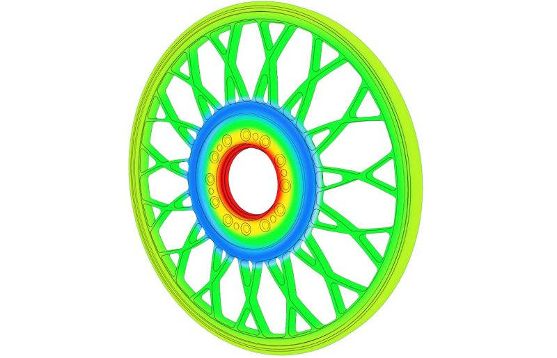 Mittels FEM-Simulation werden Schleifwerkzeuge mit »LW«-Technologie bestmöglich ausgelegt – bei gleichzeitig höchstmöglicher Gewichtsreduktion (Bild: Tyrolit).