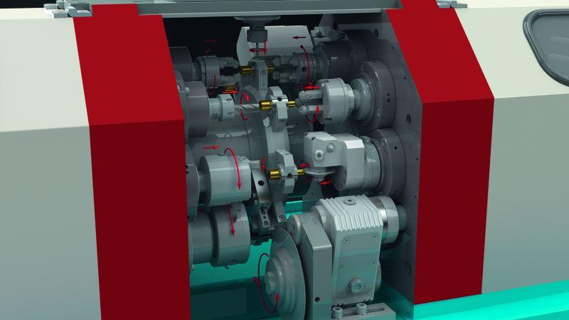 Die Rund- und Lineartaktmaschine »TSM280« wurde für die Teileproduktion in mittleren und großen Serien entwickelt (Bild: Wolf Maschinenbau).