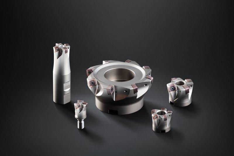 Die neuen Hochvorschubfräser von Horn sind als Schaft-, Einschraub- und Aufsteckfräser verfügbar (Bild: Horn/Sauermann).
