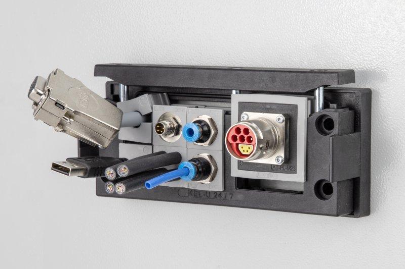 Die neuen Adaptertüllen bestehen aus Elastomer sowie Polyamid und sind silikon- und halogenfrei (Bild: icotek).