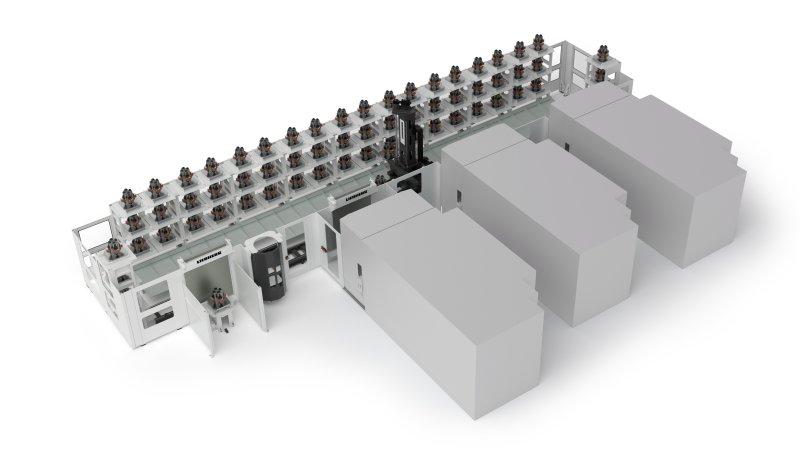 Das modulare Palettenhandlingsystem bietet eine hohe Flexibilität in der Systemauslegung (Bild: Liebherr).
