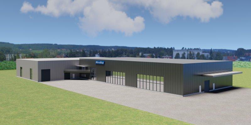 Rendering des neuen Logistikzentrums (Bild: Microstep).