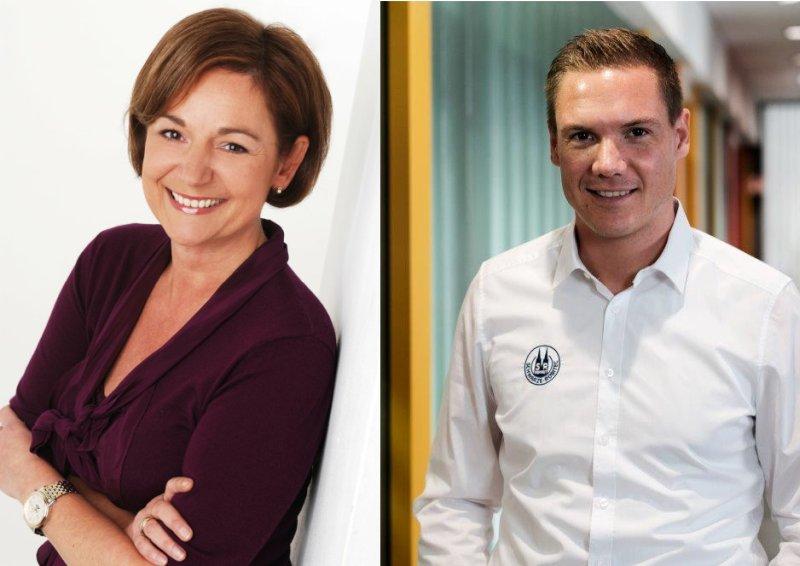 Heike Ahlers (li.) und Philipp Knobloch (re.) bilden die neue Vertriebsspitze (Bilder: Schwarze-Robitec).