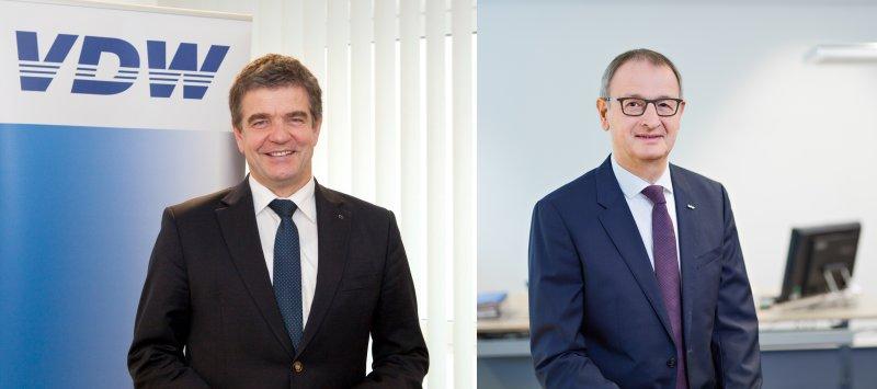 Präsentierten die Zahlen für 2020: VDW-Vorsitzender Dr. Heinz-Jürgen Prokop (li.) und VDW-Geschäftsführer Dr.-Ing. Wilfried Schäfer (re.; Bilder: VDW).