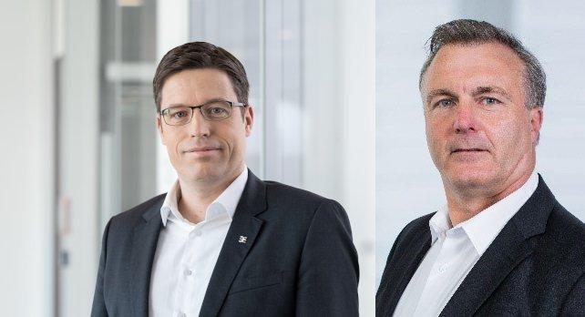 Dr. Timo Berger (li.), Vertriebsvorstand, Weidmüller Gruppe, und Jonathan Lane (re.), Geschäftsführer, Klippon Engineering UK Limited (Bilder: Weidmüller).