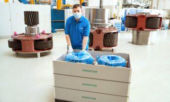 Die Transportbox ist ein neues Mehrweg-Verpackungssystem für Großlager (Bild: Flender).