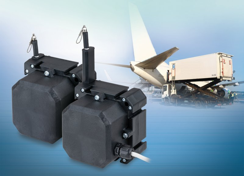 Die beiden neuen Seilzug-Wegsensoren mit einem Messbereich von 1500 und 2500 mm (Bild: Micro-Epsilon).