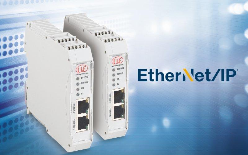 Über das Ethernet/IP-Modul können zahlreiche Sensoren an Anlagensteuerungen angebunden werden (Bild: Micro-Epsilon).