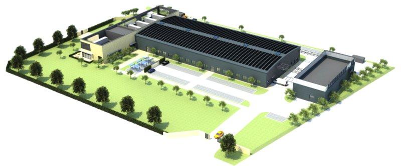 Das neue Gebäude soll im Spätsommer 2022 bezogen werden (Bild: Iscar).
