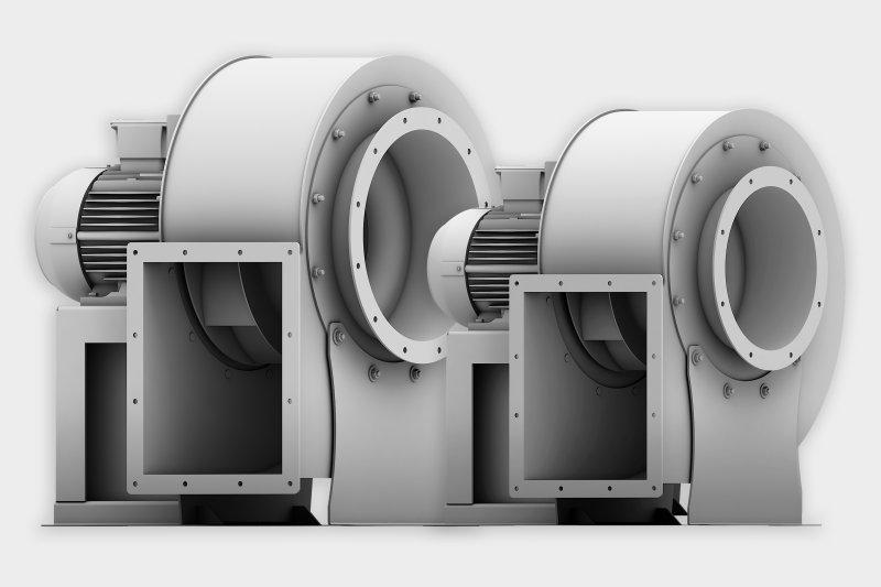Die neuen, kompakten Industrieventilatoren wurden speziell für den ressourcenschonenden Anlagenbetrieb entwickelt (Bild: Elektror).