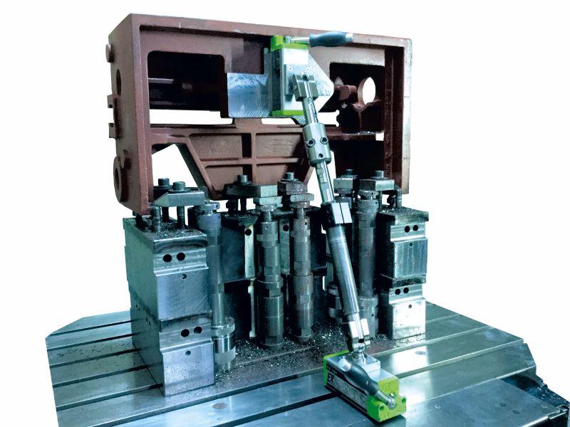 Der Werkstückstabilisator minimiert Vibrationen und sorgt für einen sicheren Halt der Werkstücke (Bild: Kipp).